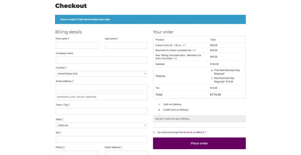 H32B Credit Card on Delivery WooCommerce Payment Method - Checkout