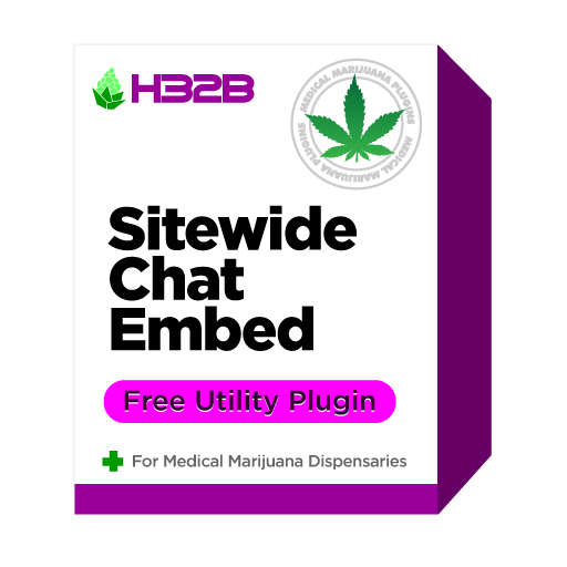 H32B Marijuana Dispensary Plugins - Live Chat Code Snippet Embed Plugin for WordPress